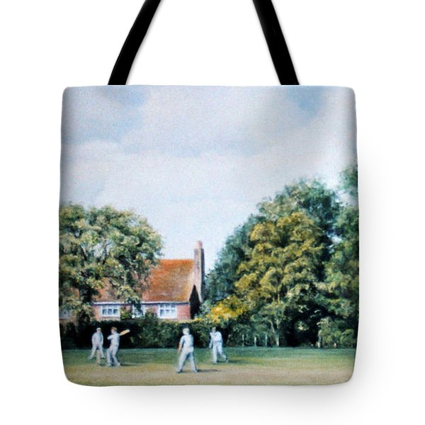 Tote Bag featuring the painting Last Man In by Rosemary Colyer