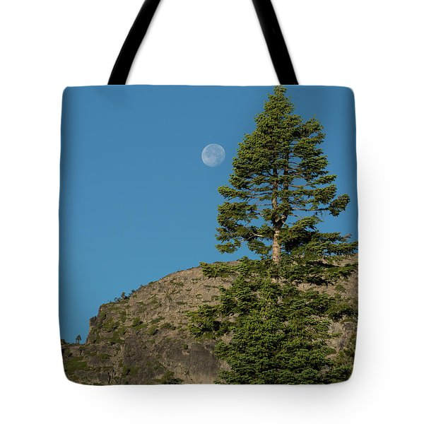 Last Moments Of A Full Moon Tote Bag