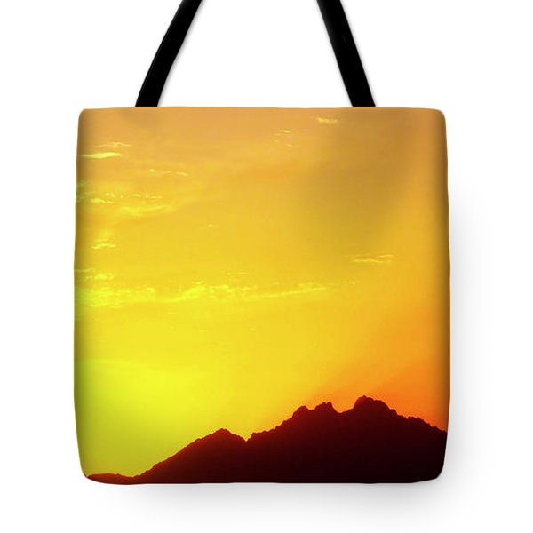 Last Moments Sunset In Africa Tote Bag