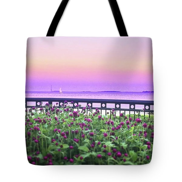 Last Night On The Harbor Tote Bag