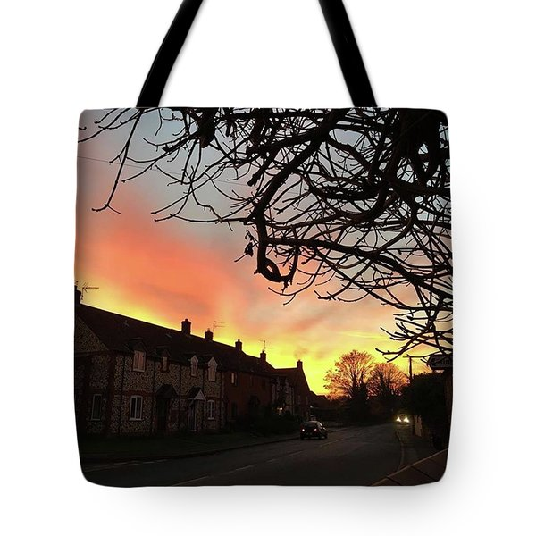Last Night's Sunset From Our Cottage Tote Bag by John Edwards