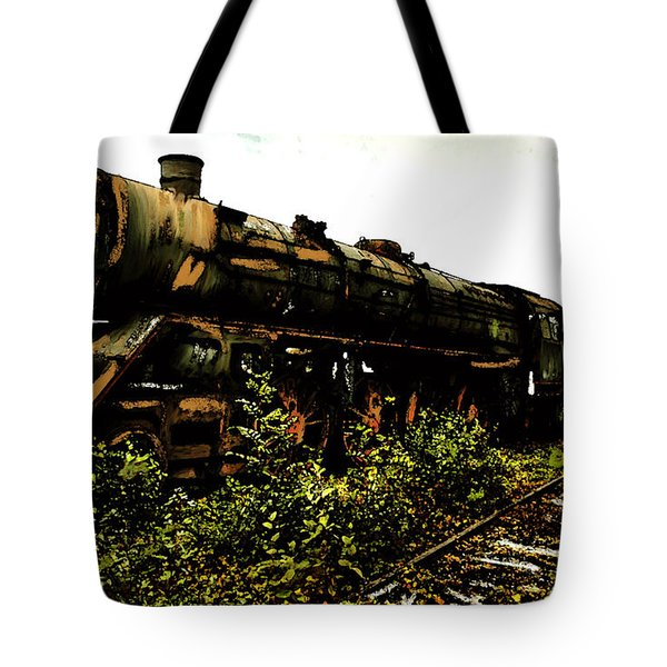 Tote Bag featuring the painting Last Of The 309  Steam Train  by Iconic Images Art Gallery David Pucciarelli