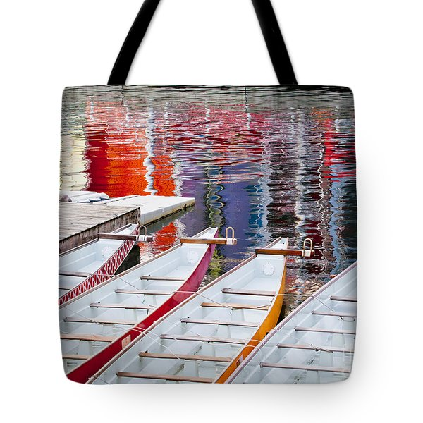 Last Of The Dragon Boats Tote Bag by Chris Dutton