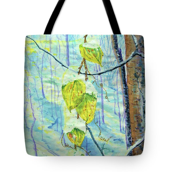 Last Of The Leaves Tote Bag