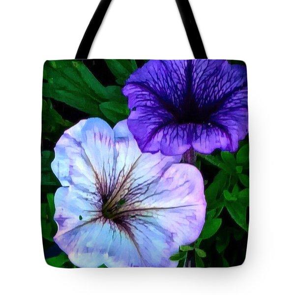 Last Of The Petunias   Tote Bag