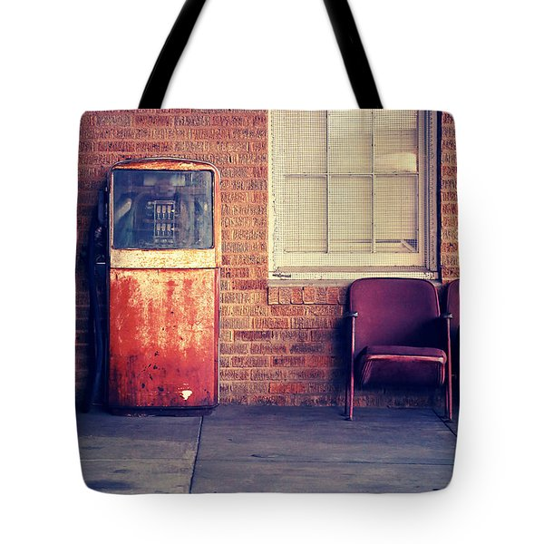 Tote Bag featuring the photograph Last Pump Standing by Trish Mistric