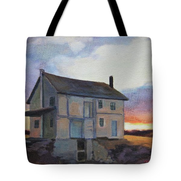 Tote Bag featuring the painting Last Stand by Andrew Danielsen