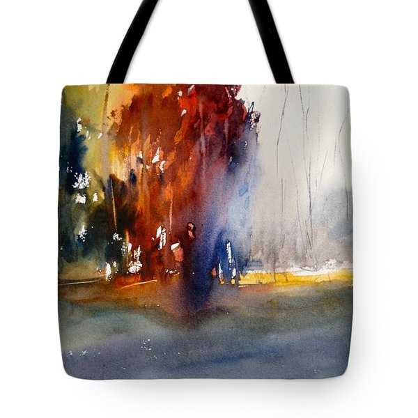 Tote Bag featuring the painting Last Stand Of The Maples by Sandra Strohschein