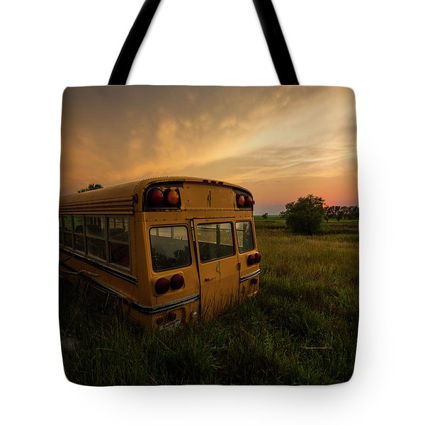 Tote Bag featuring the photograph Last Stop  by Aaron J Groen
