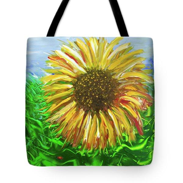 Last Sunflower Tote Bag