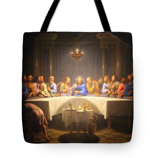 Last Supper Meeting Tote Bag by Munir Alawi