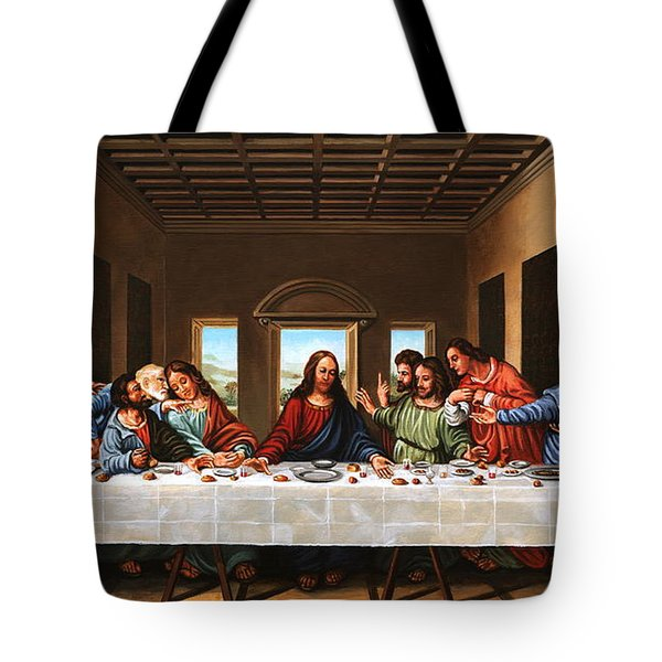 Last Supper Tote Bag by Michael Nowak