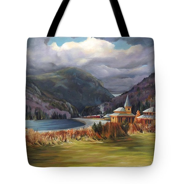 Last Train To Crawford Notch Depot Tote Bag