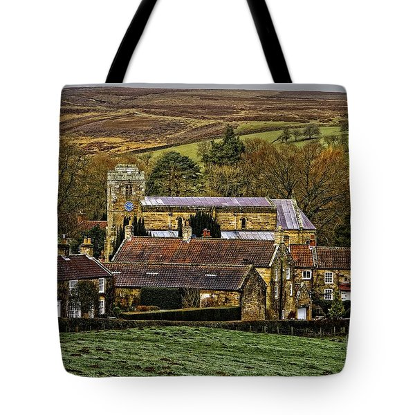 Lastingham Church And Village Yorkshire Tote Bag