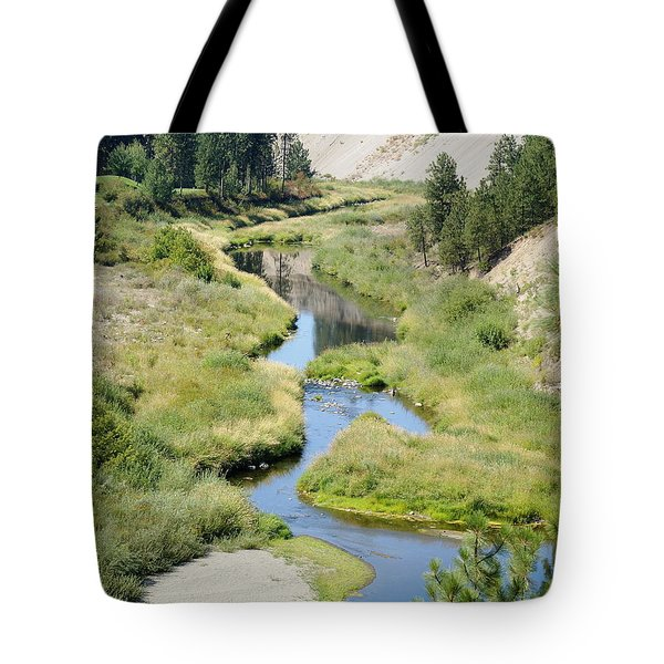Tote Bag featuring the photograph Latah Creek by Ben Upham III