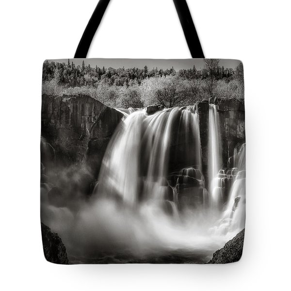 Late Afternoon At The High Falls Tote Bag by Rikk Flohr