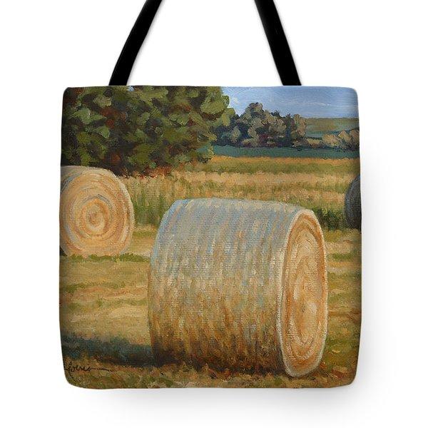 Late Afternoon Bales - Plein Air Tote Bag