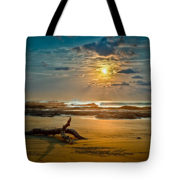 Tote Bag featuring the photograph Late Afternoon Costa Rican Beach Scene by Rikk Flohr