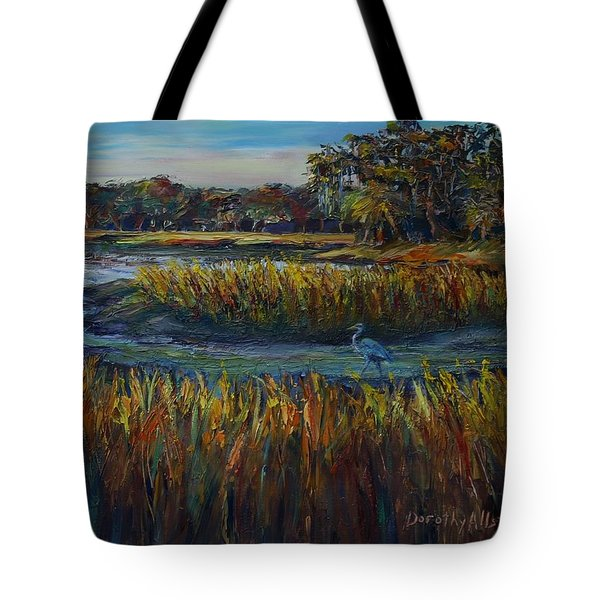 Tote Bag featuring the painting Late Afternoon by Dorothy Allston Rogers