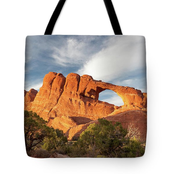 Late Afternoon Light On Skyline Arch Tote Bag