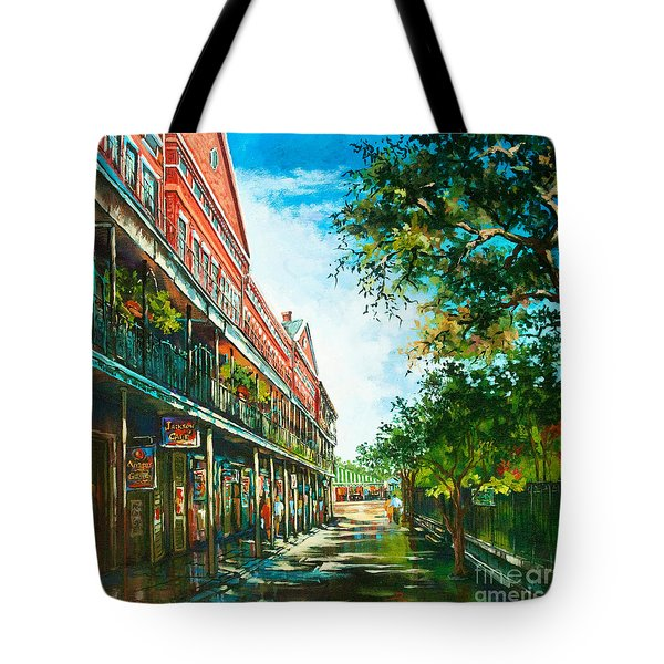 Late Afternoon On The Square Tote Bag by Dianne Parks