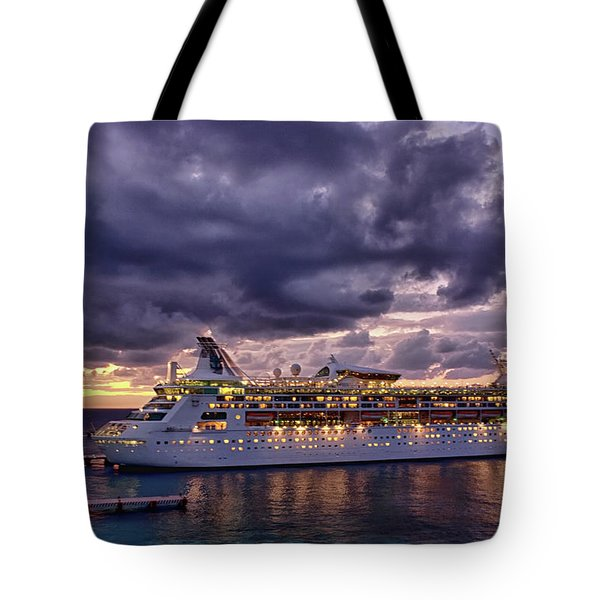 Late Arrival In Cozumel Tote Bag