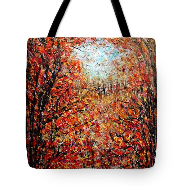 Late Autumn Tote Bag by Natalie Holland