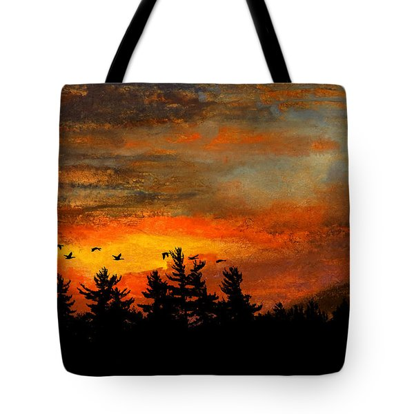 Late Autumn Travelers Tote Bag by R Kyllo