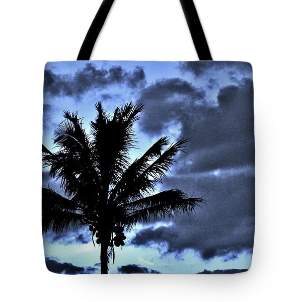 Late Day Palm Tote Bag