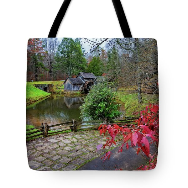 Late Fall At Mabry Mill Tote Bag