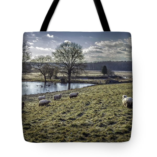 Late Fall Pastoral Tote Bag