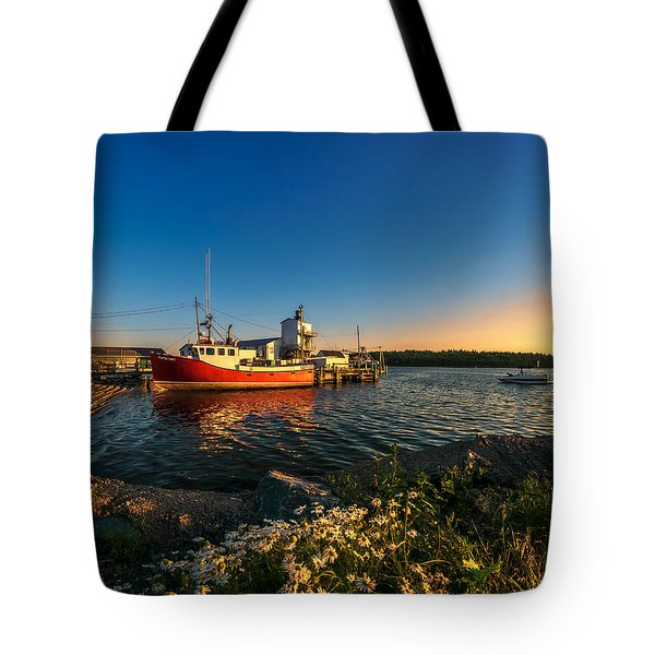 Late In The Day At Fisherman's Cove  Tote Bag by Ken Morris