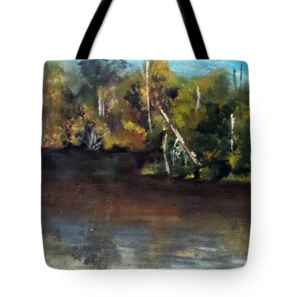 late in the Day on Blue Creek Tote Bag