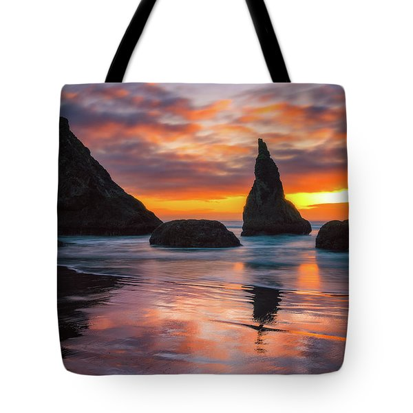 Tote Bag featuring the photograph Late Night Cloud Dance by Darren White