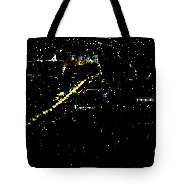 Tote Bag featuring the photograph Late Night In Cuenca, Ecuador by Al Bourassa