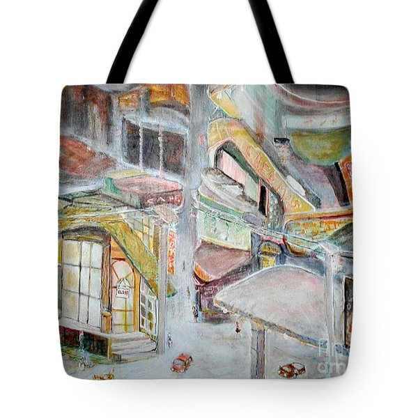The Infamous City Corner At Midnight Tote Bag