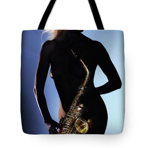 Late Night Sax Tote Bag