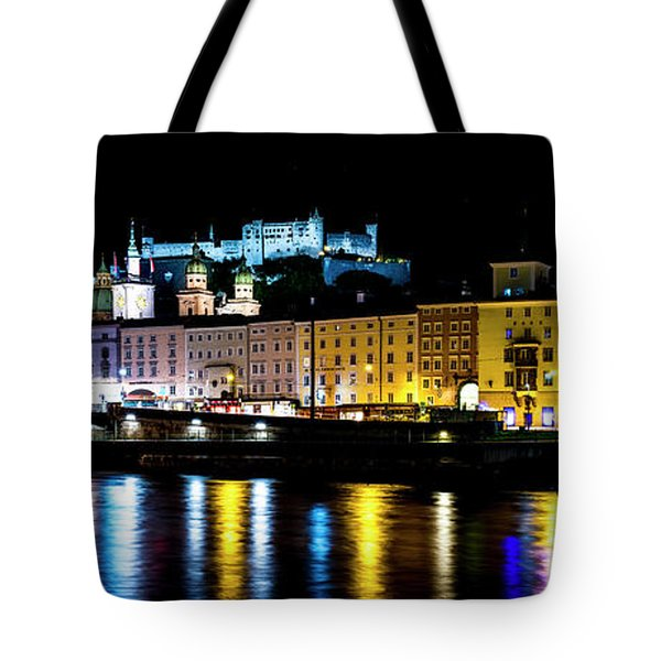 Tote Bag featuring the photograph Late Night Stroll In Salzburg by David Morefield