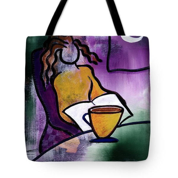 Late Night With Java Lady Tote Bag