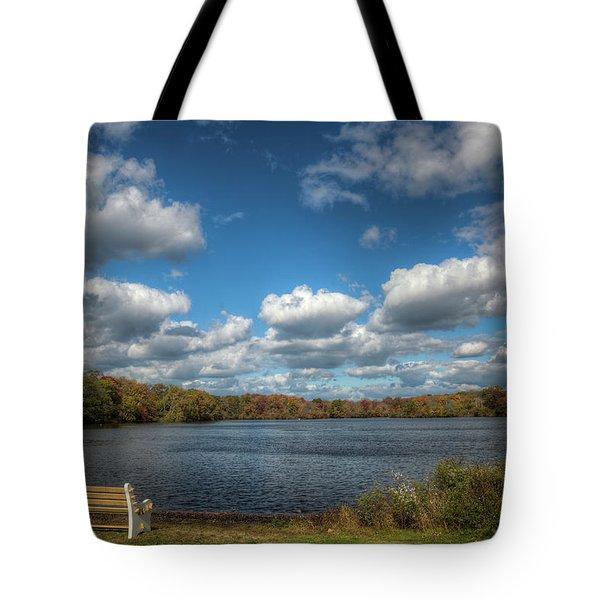 Late October, Belmont Lake Tote Bag