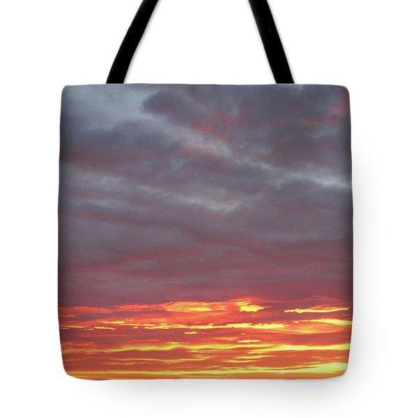 Late Prairie Sunrise Tote Bag