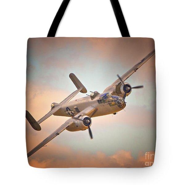 Late Return,north American B-25 Mitchell  Tote Bag