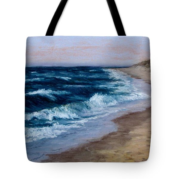 Tote Bag featuring the painting Late Spring At Cold Storage Beach by Jack Skinner