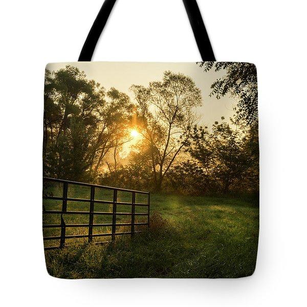 Late Summer Sunrise Tote Bag