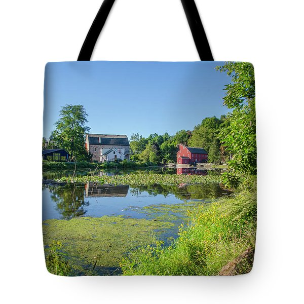 Late Summer - The Red Mill  On The Raritan River - Clinton New J Tote Bag by Bill Cannon