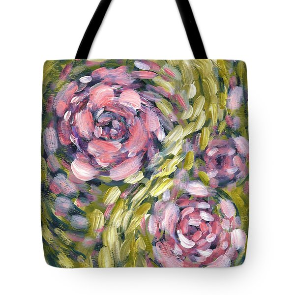 Tote Bag featuring the digital art Late Summer Whirl by Holly Carmichael