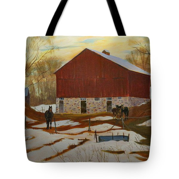 Late Winter At The Farm Tote Bag