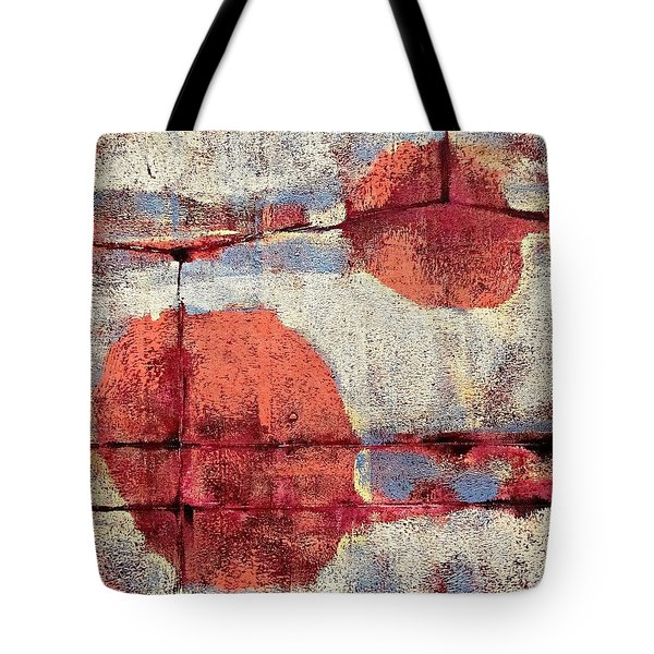 Tote Bag featuring the painting Latent Connections by Maria Huntley