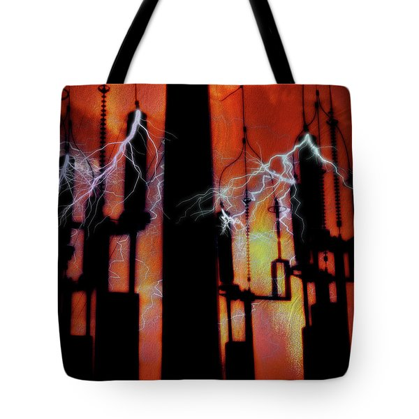 Latent Voltage Tote Bag