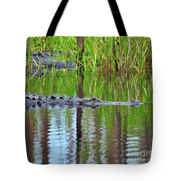 Tote Bag featuring the photograph Later Gator by Al Powell Photography USA